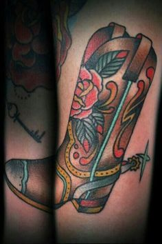 traditional cowboy boot tattoo google search tattoo ideas rh pinterest com cowboy boot tattoos designs cowboy boot tattoo ideas