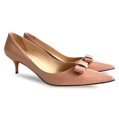 BRAND NEW with box  #JIMMYCHOO #patentleather #Madeeha Bow #kittenheels #pumps- Blush - Size 40  The price is $349.99