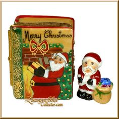 Santa's Christmas Book, Santa Inside Limoges Box (Beauchamp)