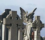 angel and celtic crosses