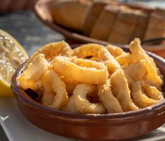 Calamares Fritos is traditional Spanish fried squid. It is also goes by the name of Calamares a la Romana. Calamares Fritos are a very popular appetizer or tapa Spanish Cuisine, Spanish Dishes, Spanish Tapas, Spanish Food, Spanish Recipes, Tapas Dishes, Seafood Dishes, Tapas Recipes, Spicy Recipes