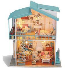 100 best diy dollhouse kits images on pinterest doll houses wooden dollhouse miniature diy kit w light sweetheart model control diy solutioingenieria Choice Image
