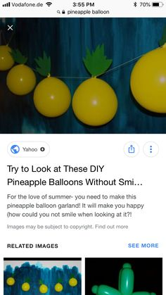 Balloon Garland, Balloons, Flamingo Baby Shower, Are You Happy, Pineapple, Make It Yourself, Diy, Globes, Bricolage