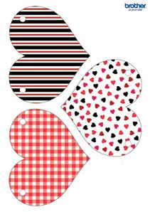 Valentine Red Heart Bunting
