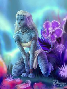 Avatar fan art · avatar movie · the na'vi girl fantasy creatures, mythical creatures, alien creatures, anime galaxy Alien Creatures, Fantasy Creatures, Mythical Creatures, Alien Avatar, Avatar Movie, Avatar Aang, Alien Character, Character Art, Fantasy Character Design