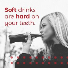 DRINKING SODA especially if you do it on a regular basis puts your teeth at serious risk for tooth decay and tooth loss! #soda #dentist #teeth #wpb #palmbeach #localdentist #dentalartsofatlantis