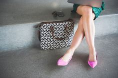 Pink suede flats - Fashion photographer - Ashlee Brooke Photography