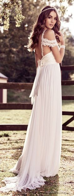 """With bold and intoxicating wedding dresses that are """"Everything"""", Anna Campbell 2018 Eternal Heart Collection is a bridal-fashion moment not to be missed. Wedding Dresses 2018, Bohemian Wedding Dresses, Hippie Dresses, Wedding Bridesmaid Dresses, Bridal Dresses, Lace Weddings, Romantic Weddings, Satin Dresses, Bridesmaids"""