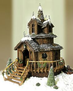this gingerbread house won the grand prize at the national gingerbread house competition in Florida