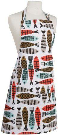 Amazon.com: Now Designs Basic Apron, Fishies: Home & Kitchen