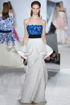 Sculptural Giambattista Valli gown