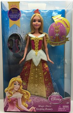 2013 Mattel Disney Princess Magic Dress Sleep Beauty Doll This item is NOT in Mint Condition and is in no way being described as Mint or even Near Mint. Our toys have not always lead the perfect life, Disney Barbie Dolls, Barbie Fashionista Dolls, Ariel Doll, Disney Princess Dolls, Barbie Doll House, Doll Clothes Barbie, Disney Princess Dresses, Disney Outfits, Mattel Dolls