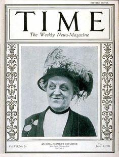 TIME Cover - Vol. 7 Nº 24: Carrie Chapman Catt   June 14, 1926 http://en.wikipedia.org/wiki/Carrie_Chapman_Catt