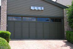 modern black garage