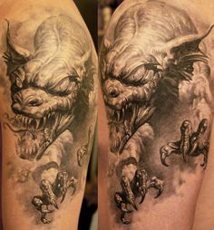 Realism Dragon Tattoo by Dmitriy Samohin | Tattoo No. 151  #dragon #tattoos…