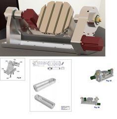 cnc router plans Milling machine table, Module 4th 5th axis bauplan 3D CAD