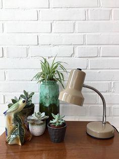 Vintage Lampe made in Italy, Schreibtischlampe Mid century, Leselampe, Schwanenhals, Nachttischlampe, Arbeitsleuchte, Industrielampe von moovi auf Etsy