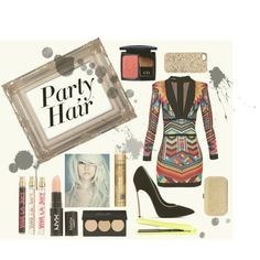 A beauty collage from December 2014 featuring Christian Dior, creamy lipstick and Juicy Couture. Browse and shop related looks. 2015 Hairstyles, Party Hairstyles, Hair 2015, Shoe Bag, Polyvore, Stuff To Buy, Collection, Design, Women