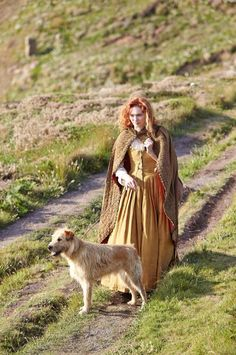 Demelza And her dog | Poldark BBC