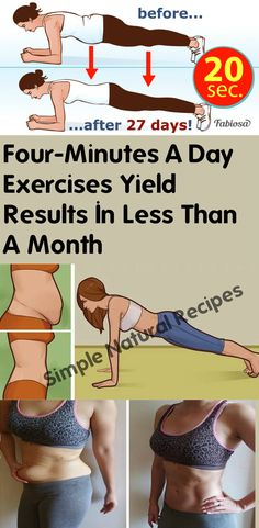 I just did plank 1 minute 3 times for a week and it really worth it.gonna try to do every day