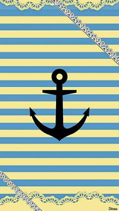 Anchor Wallpaper, Nautical Wallpaper, Pretty Phone Wallpaper, Iphone Wallpaper, Phone Backgrounds, Wallpaper Backgrounds, Background Ideas, Dreamcatchers, Wallpaper Ideas