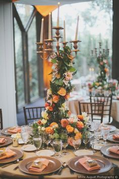 Whimsical wedding centerpiece decor - candle wrapped in floral decor {White August Photography} Summer Wedding Suits, Summer Wedding Cakes, Summer Wedding Bouquets, Summer Wedding Colors, Spring Wedding, Wedding Dresses, Outdoor Wedding Decorations, Wedding Centerpieces, August Wedding