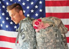 Military baby newborn photo session shoot idea dad daddy soldier army navy Air Force   Marine