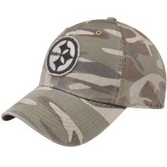 Men s  47 Brand Pittsburgh Steelers Tarpoon Camo Slouch Fitted Hat 27d43aec9
