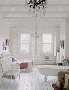 White floors.