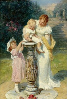 IMAGES WITH CHILDREN - PAINTINGS OF FREDERICK MORGAN
