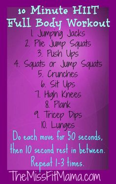 10 Minute #HIIT #FullBody #Workout