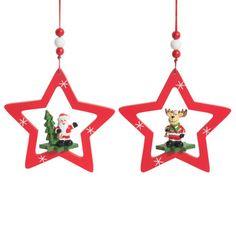 Déco de Noël étoiles rouges