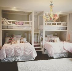 "738 Likes, 25 Comments - Riordan Signature Homes (@riordansignaturehomes) on Instagram: ""Super fun custom bunk beds we did for some sweet little girls a few years back """