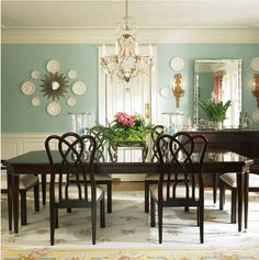 1000 images about dining room on pinterest grey dining for Updating a traditional dining room