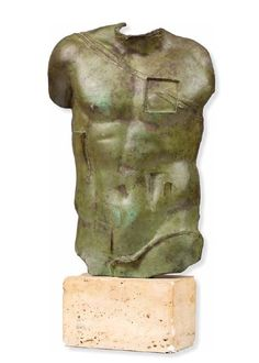 GOR MITORAJ (1944 - 2014)  PERSEUSZ   brąz patynowany, podstawa kamienna / wys. 38,5 cm (z podstawą 48,5 cm)  sygn.: MITORAJ  edycja: A 673/1000 / H.C.