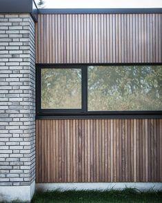 Facade Design, House Design, Danish House, Build My Own House, Siding Materials, Exterior Cladding, Facade House, Outdoor Rooms, Future House