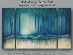 Huge wall art Tree painting Oversized abstract by ArtFromDenise, $1123.00