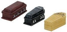 Lemax Spooky Town COFFINS set 3 Halloween Village Accessory RETIRED  NRFB #Lemax