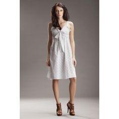 """Delikatna sukienka w stylu """"SAFARI"""" - biały"""