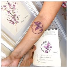 Butterfly tattoo But with monarch life cycle! Pretty Tattoos, Love Tattoos, Beautiful Tattoos, New Tattoos, Tattoos For Women, Butterfly Wrist Tattoo, Wrist Tattoos, Body Art Tattoos, Tatoos