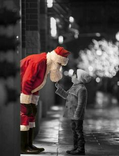 Splash of Red with Santa