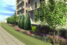 The land development project at the high-rise building in Szczecin