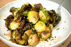 Roasted Brussel Sprouts & Balsamic Dressing.