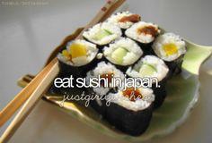 bucket list- eat sushi in japan