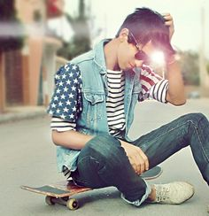 Hot Skater Boy. Follow me! I'll follow back!