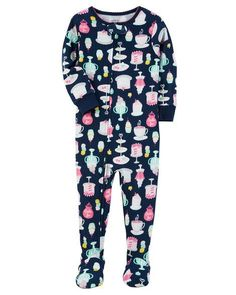 Baby Girl 1-Piece Sweets Snug Fit Cotton PJs from Carters.com. Shop clothing & accessories from a trusted name in kids, toddlers, and baby clothes.
