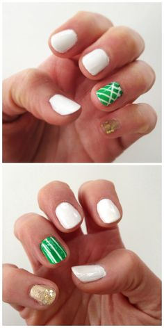 Simple Graphic St. Patrick's Day Nail Art