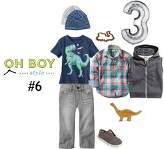 Oh Boy Style #6: A Dinosaur Birthday Party Look #Ohboystyle