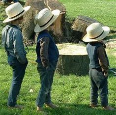 amish boys - hands in the pockets, always. Adorable!