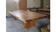Suar Dining Table - Extra Large Teak Style Bali Table - I contacted them about cutting off the blond edges which would work for our width! Do you like the table in general if it didn't have the blond?